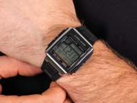 Casio WV-59E-1AVEF zegarek srebrny sportowy Radio Controlled pasek