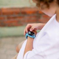 Zegarek sportowy Garett Dla dzieci 5903246280555 Smartwatch Garett Kids Happy Niebieski - duże 7