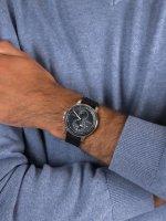 Zegarek srebrny fashion/modowy  Męskie 1791626 pasek - duże 5