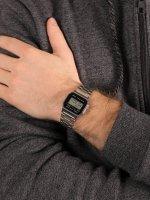 Casio Vintage A158WEA-1EF męski zegarek VINTAGE Maxi bransoleta