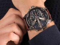 Zegarek srebrny fashion/modowy Diesel Daddies DZ7314 pasek - duże 6