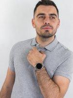 Emporio Armani ART5026 zegarek srebrny fashion/modowy Connected bransoleta