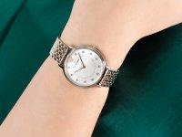 Zegarek srebrny fashion/modowy Emporio Armani Ladies AR2508 bransoleta - duże 6