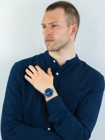 Zegarek srebrny fashion/modowy Fossil Barstow FS5509 bransoleta - duże 4