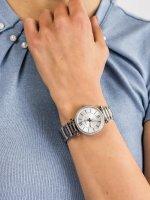 Zegarek srebrny fashion/modowy Fossil Carlie ES4341 bransoleta - duże 5