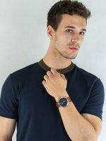 Zegarek srebrny fashion/modowy Fossil Forrester FS5607 pasek - duże 4