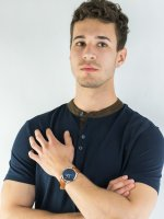 Zegarek srebrny fashion/modowy Fossil The Minimalist FS5499 pasek - duże 4