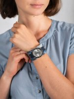 Zegarek srebrny fashion/modowy Guess Pasek W1141L1 pasek - duże 5
