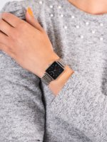 Zegarek srebrny fashion/modowy Rosefield Boxy QBSS-Q07 bransoleta - duże 5