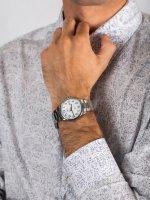 Zegarek srebrny fashion/modowy Timex Easy Reader TW2R23300 bransoleta - duże 5