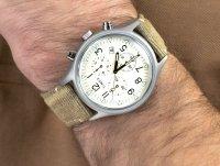 Zegarek srebrny fashion/modowy Timex MK1 TW2R68500 pasek - duże 6