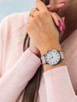 Zegarek srebrny fashion/modowy Timex Transcend TW2T47900 pasek - duże 5