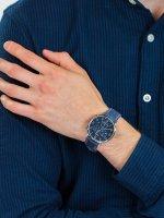 Zegarek srebrny fashion/modowy Timex Waterbury TW2T71300 pasek - duże 5