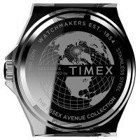 Timex TW2U42500 zegarek srebrny klasyczny Essex Avenue bransoleta