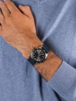 Zegarek srebrny klasyczny  Layton MK8818 pasek - duże 5