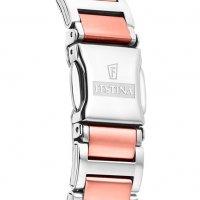 Festina F16937-D zegarek srebrny klasyczny Mademoiselle bransoleta