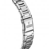 Festina F20220-1 zegarek srebrny klasyczny Mademoiselle bransoleta