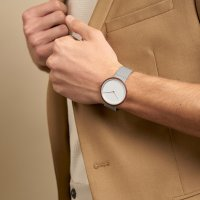 Zegarek srebrny klasyczny  Slim V245GXCIMC bransoleta - duże 7