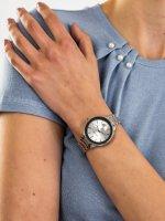 Zegarek srebrny klasyczny Anne Klein Bransoleta AK-2979SVSV bransoleta - duże 5