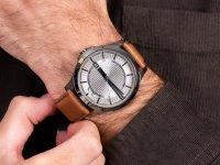 Zegarek srebrny klasyczny Armani Exchange Fashion AX2414 pasek - duże 6