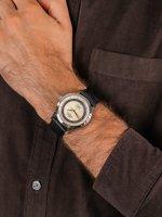 Zegarek srebrny klasyczny Atlantic Worldmaster 53754.41.93RB pasek - duże 5