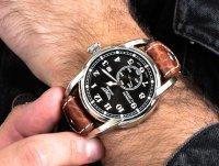 Zegarek srebrny klasyczny Aviator Bristol V.3.07.0.081.4 pasek - duże 6