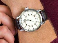 Zegarek srebrny klasyczny Aviator Vintage Family V.1.11.0.042.4 pasek - duże 6