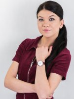 Zegarek srebrny klasyczny Bisset Klasyczne BSAE58SISR03BX pasek - duże 4