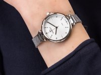 Zegarek srebrny klasyczny Bisset Klasyczne BSBF22SISX03BX bransoleta - duże 6