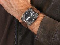 Zegarek srebrny klasyczny Bisset Klasyczne BSCC82SIBX pasek - duże 6