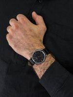 Zegarek srebrny klasyczny Bulova Classic 98A167 pasek - duże 5
