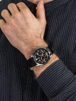 Zegarek srebrny klasyczny Casio EDIFICE Momentum EFB-550L-1AVUER pasek - duże 5