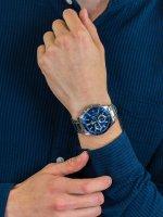 Zegarek srebrny klasyczny Casio EDIFICE Momentum EFV-570D-2AVUEF bransoleta - duże 5