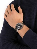 Zegarek srebrny klasyczny Casio EDIFICE Momentum EFV-580D-2AVUEF bransoleta - duże 5