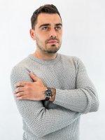 Zegarek srebrny klasyczny Casio EDIFICE Premium EFS-S530L-5AVUEF pasek - duże 4