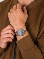 Zegarek srebrny klasyczny Casio Klasyczne MTP-1303PD-1A2VEF bransoleta - duże 5