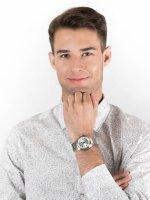 Zegarek srebrny klasyczny Citizen Automat NJ0100-89A bransoleta - duże 4