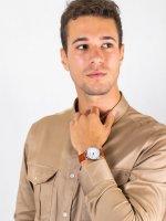 Zegarek srebrny klasyczny Citizen Ecodrive AR1130-13A pasek - duże 4