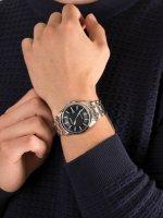 Zegarek srebrny klasyczny Citizen Ecodrive BM7108-81L bransoleta - duże 5