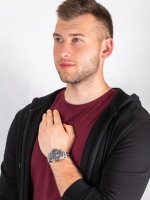 Zegarek srebrny klasyczny Citizen Radio Controlled AT9030-55E bransoleta - duże 4