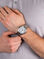 Zegarek srebrny klasyczny Citizen Titanium BM7470-84A bransoleta - duże 5