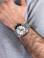 Zegarek srebrny klasyczny Diesel Overflow DZ4203 bransoleta - duże 5