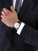 Zegarek srebrny klasyczny Doxa Slim Line 105.10.021.01 pasek - duże 5