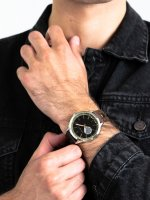 Zegarek srebrny klasyczny Esprit Męskie ES109211003 pasek - duże 5