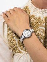 Zegarek srebrny klasyczny Festina Ceramic F20474-1 bransoleta - duże 5