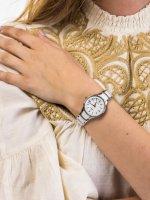 Zegarek srebrny klasyczny Festina Ceramic F20474-2 bransoleta - duże 5