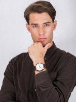 Zegarek srebrny klasyczny Fossil Barstow FS5510 pasek - duże 4