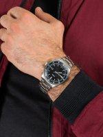 Zegarek srebrny klasyczny Fossil Belmar FS5530 bransoleta - duże 5