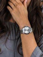Zegarek srebrny klasyczny Fossil FB-01 ES4744 bransoleta - duże 5