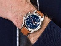 Zegarek srebrny klasyczny Fossil Grant FS5210IE pasek - duże 6